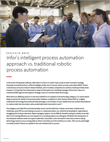Th Infors intelligent process automation approach vs traditional Executive Brief English 457px