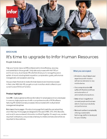 Th Its time to upgrade to Infor Human Resources Brochure English 457px