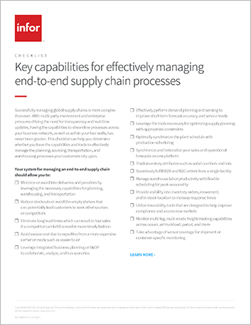 Th Key capabilities for effectively managing end to end supply chain processes Checklist English 457px