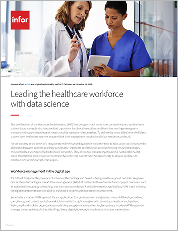 Th Leading the healthcare workforce with data science Article English 457px