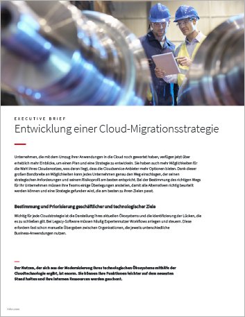 Th Mapping your cloud migration strategy Executive Brief German 457px