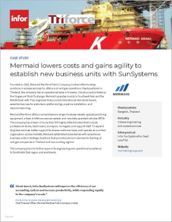Th Mermaid Case Study Infor Sun Systems Infor OS Subsea engineering and vessels services APAC English 457px