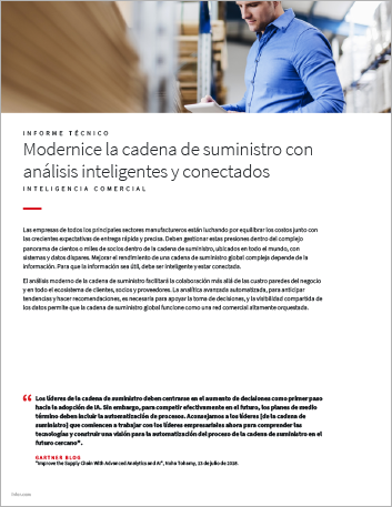 Th Modernize the supply chain with smart connected analytics White Paper Spanish LA 457px