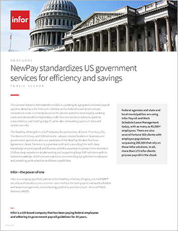 Th New Pay standardizes US government services for efficiency and savings Brochure English rebrand 457px