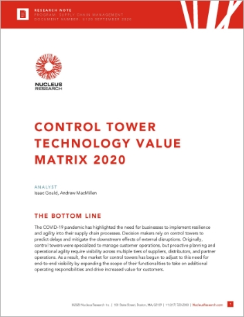 Th Nucleus Research Control Tower Technology Value Matrix 2020 Analyst Report English 457px