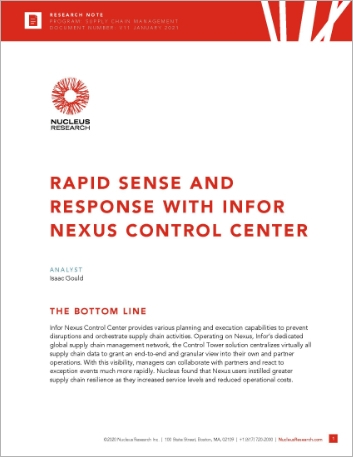 Th Rapid sense and response with Infor Nexus Control Center Analyst Report English 457px