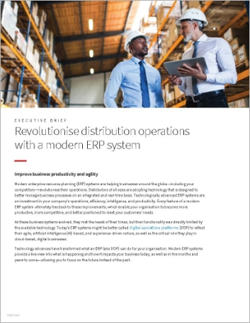 Th Revolutionise distribution operations with a modern ERP system Executive Brief English Singapore 457px