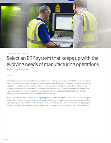 Th Select an ERP system that keeps up with the evolving needs of manufacturing operations Executive Brief English 457px