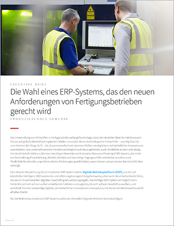 Th Select an ERP system that keeps up with the evolving needs of manufacturing operations Executive Brief German 457px