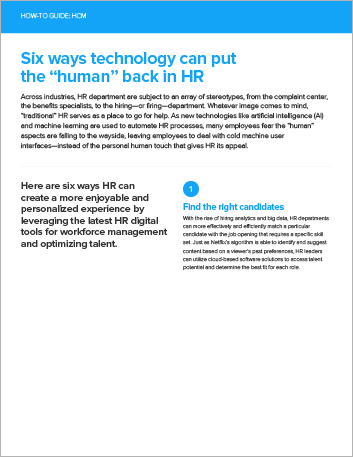 Th Six ways technology can put the human back in HR How to Guide English 457px