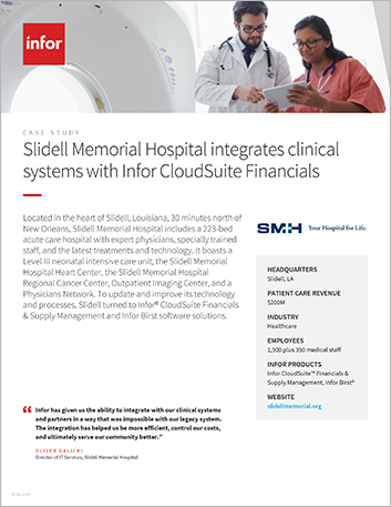 Th Slidell Memorial Hospital Case Study Infor Cloud Suite Financials and Supply Management Infor Birst Healthcare NA English 457px