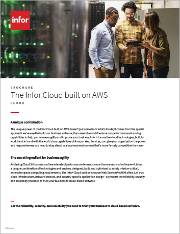 Th The Infor Cloud built on AWS Brochure English 457px