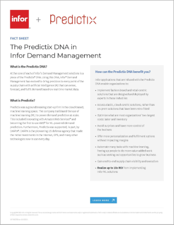 Th The Predictix DNA in Infor Demand Management Fact Sheet English 457px
