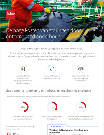 Th The high cost of asset maintenance failure Infographic Dutch 457px