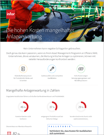 Th The high cost of asset maintenance failure Infographic German 457px