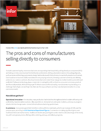 Th The pros and cons of manufacturers selling directly to consumers Article English 457px