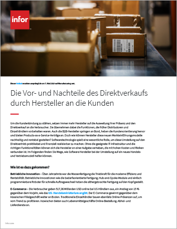 Th The pros and cons of manufacturers selling directly to consumers Article German 457px