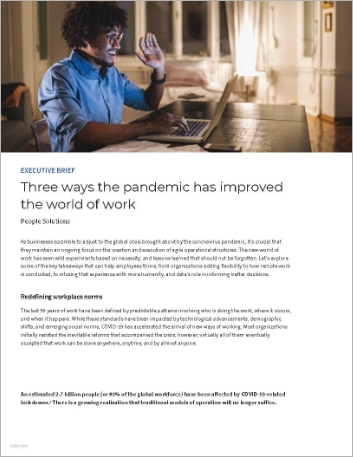 Th Three ways the pandemic has improved the world of work Executive Brief English 457px