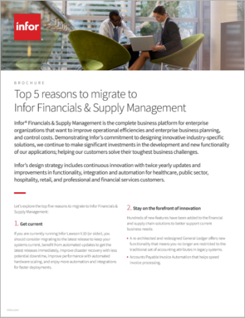 Th Top 5 reasons to migrate to Infor Financials and Supply Management Brochure English 457px