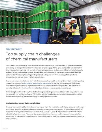 Th Top supply chain challenges of chemical manufacturers Executive Brief English 457px