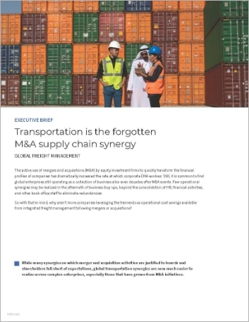Th Transportation is the forgotten MA supply chain synergy Executive Brief English 457px
