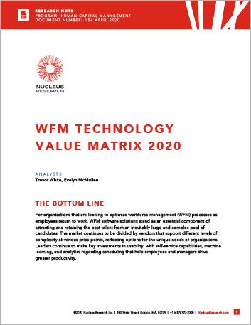 Th WFM Technology Value Matrix 2020 457px