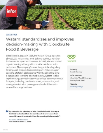 Th Watami Case Study CS Food and Beverage Factory Track Birst Food and Beverage APAC English 457px