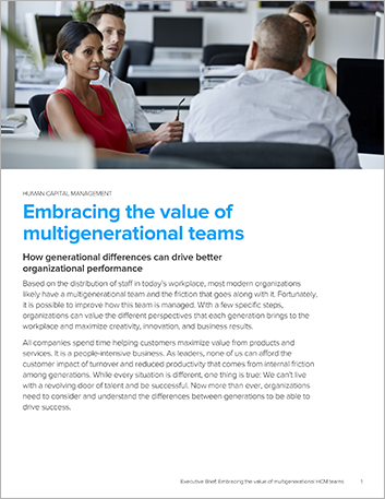 Th hfe hcm executive brief embracing multigenerational teams