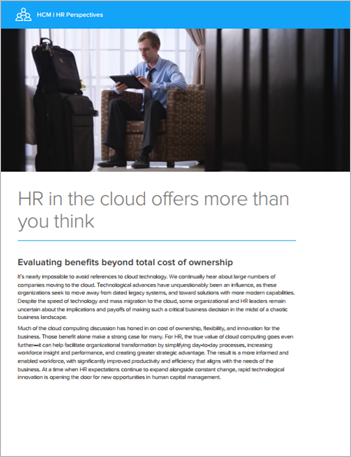 Th hfe hcm hr in the cloud offers more than you think