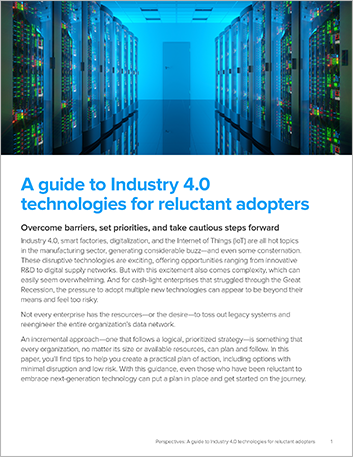 Th imea manufacturing erp white paper a guide to industry 40 technologies for reluctant adopters