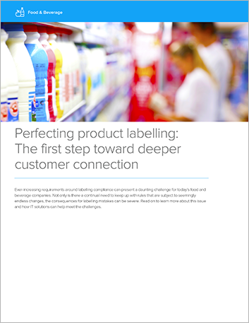 Perfecting Product Labeling Food And Beverage White Paper Infor