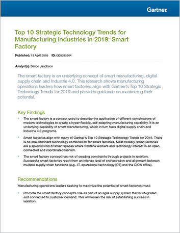 Th manufacturing report analyst maximizing operational potential in the smart factory
