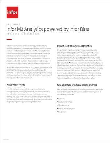 Th Infor M3 Analytics powered by Infor Birst Brochure English 457px